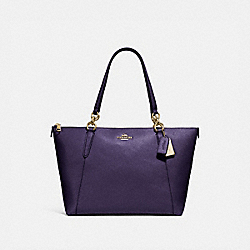 AVA TOTE - F57526 - DARK PURPLE/IMITATION GOLD
