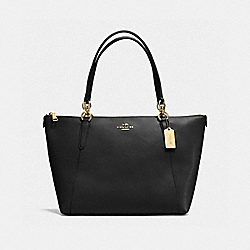 AVA TOTE IN CROSSGRAIN LEATHER - f57526 - IMITATION GOLD/BLACK