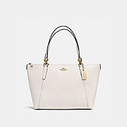 AVA TOTE IN CROSSGRAIN LEATHER - f57526 - IMITATION GOLD/CHALK