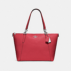 COACH F57526 Ava Tote WASHED RED/SILVER