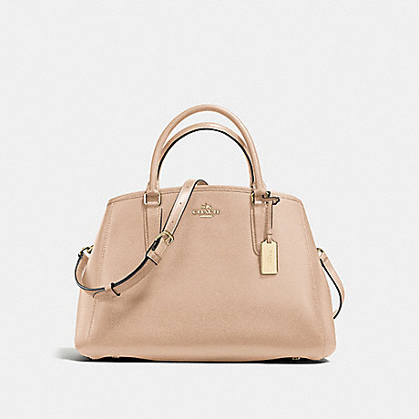 98d3a0d8f419d COACH f57527 SMALL MARGOT CARRYALL IN CROSSGRAIN LEATHER IMITATION  GOLD BEECHWOOD