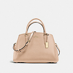 COACH F57527 - SMALL MARGOT CARRYALL IN CROSSGRAIN LEATHER IMITATION GOLD/BEECHWOOD