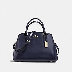 COACH F57527 - SMALL MARGOT CARRYALL IN CROSSGRAIN LEATHER IMITATION GOLD/MIDNIGHT