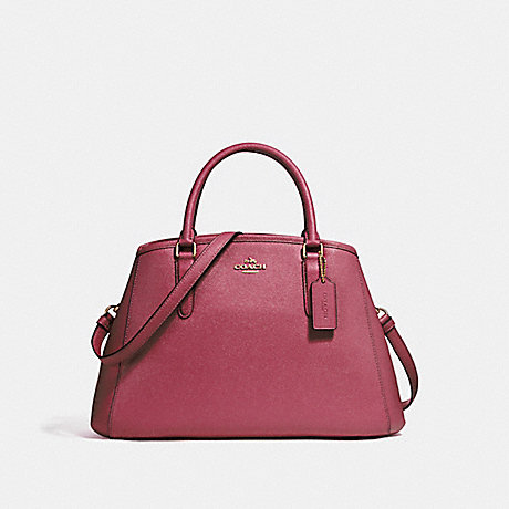 COACH f57527 SMALL MARGOT CARRYALL LIGHT GOLD/ROUGE
