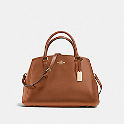 COACH F57527 - SMALL MARGOT CARRYALL IN CROSSGRAIN LEATHER IMITATION GOLD/SADDLE