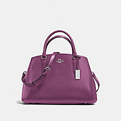 SMALL MARGOT CARRYALL IN CROSSGRAIN LEATHER - f57527 - SILVER/MAUVE