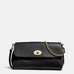 COACH F57528 Ruby Crossbody In Crossgrain Leather IMITATION GOLD/BLACK