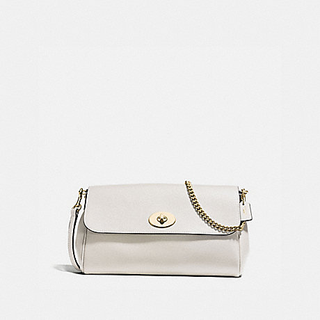 COACH f57528 RUBY CROSSBODY IN CROSSGRAIN LEATHER IMITATION GOLD/CHALK