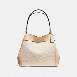 LEXY SHOULDER BAG IN LEGACY JACQUARD - f57540 - IMITATION GOLD/MILK BEECHWOOD