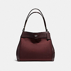 COACH LEXY SHOULDER BAG IN LEGACY JACQUARD - BLACK ANTIQUE NICKEL/OXBLOOD 1 - F57540