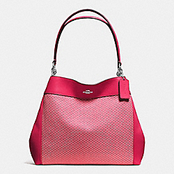 LEXY SHOULDER BAG IN LEGACY JACQUARD - f57540 - SILVER/MILK BRIGHT PINK