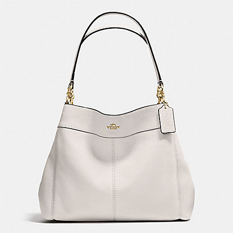 COACH f57545 LEXY SHOULDER BAG IN PEBBLE LEATHER IMITATION GOLD/CHALK