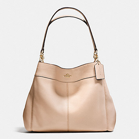 COACH f57545 LEXY SHOULDER BAG IN PEBBLE LEATHER IMITATION GOLD/BEECHWOOD