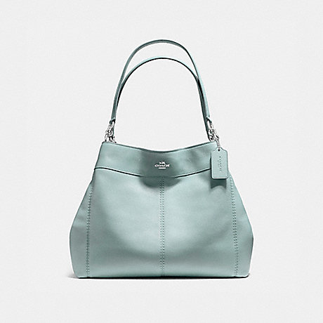 bc3ed796056 COACH F57545 - LEXY SHOULDER BAG IN PEBBLE LEATHER - SILVER AQUA ...