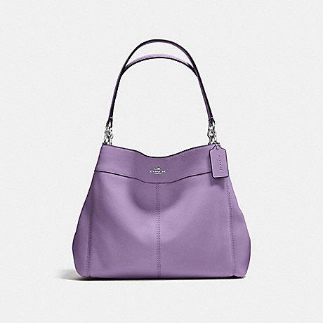 COACH f57545 LEXY SHOULDER BAG SILVER/BERRY