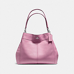 LEXY SHOULDER BAG IN PEBBLE LEATHER - f57545 - SILVER/LILAC
