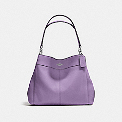 LEXY SHOULDER BAG IN PEBBLE LEATHER - f57545 - SILVER/STRAWBERRY
