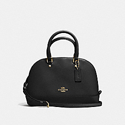 COACH F57555 Mini Sierra Satchel In Crossgrain Leather IMITATION GOLD/BLACK