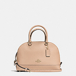 MINI SIERRA SATCHEL IN CROSSGRAIN LEATHER - f57555 - IMITATION GOLD/BEECHWOOD