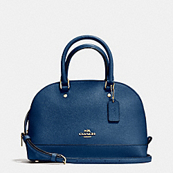 MINI SIERRA SATCHEL IN CROSSGRAIN LEATHER - f57555 - IMITATION GOLD/MARINA