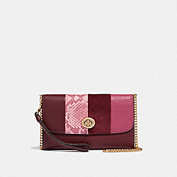 CHAIN CROSSBODY - F57556 - WINE MULTI/LIGHT GOLD