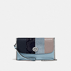 COACH F57556 - CHAIN CROSSBODY CORNFLOWER MULTI/SILVER