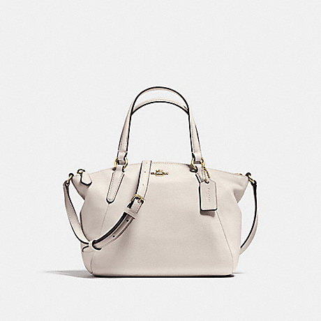 COACH f57563 MINI KELSEY SATCHEL IN PEBBLE LEATHER IMITATION GOLD/CHALK