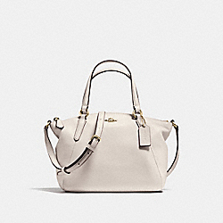 MINI KELSEY SATCHEL IN PEBBLE LEATHER - f57563 - IMITATION GOLD/CHALK