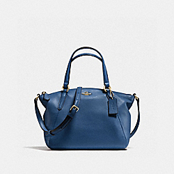 MINI KELSEY SATCHEL IN PEBBLE LEATHER - f57563 - IMITATION GOLD/MARINA