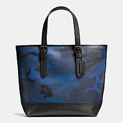 COACH HENRY TOTE IN INDIGO CAMO - LIGHT LILAC - F57565