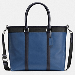 PERRY BUSINESS TOTE IN COLORBLOCK LEATHER - f57568 - INDIGO/MIDNIGHT/BLACK
