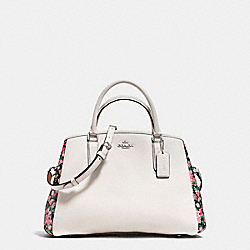 COACH F57631 Small Margot Carryall In Posey Cluster Floral Print Coated Canvas SILVER/CHALK PINK MULTI