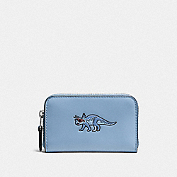 COACH F57640 Small Zip Case DK/CORNFLOWER