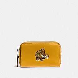 COACH F57640 Small Zip Case DK/FLAX