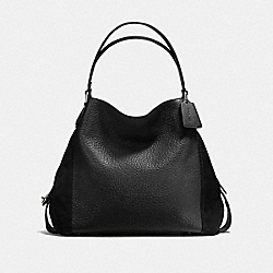 COACH F57647 Edie Shoulder Bag 42 DK/BLACK