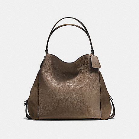 COACH F57647 - EDIE SHOULDER BAG 42 - FATIGUE DARK GUNMETAL  66decf04856d6
