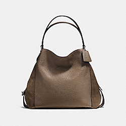 COACH F57647 - EDIE SHOULDER BAG 42 FATIGUE/DARK GUNMETAL