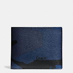 COACH F57655 3-in-1 Wallet In Indigo Camo INDIGO CAMO