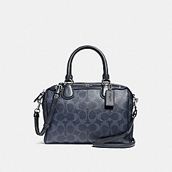 COACH F57672 Mini Bennett Satchel In Signature Canvas DENIM 2/SILVER