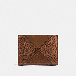 COACH F57706 Slim Billfold Wallet With Canyon Quilt DARK SADDLE MULTI