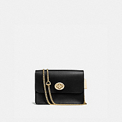 BOWERY CROSSBODY - f57714 - BLACK/LIGHT GOLD