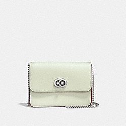 BOWERY CROSSBODY - f57714 - SILVER/PALE GREEN