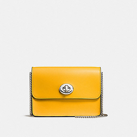 COACH f57714 BOWERY CROSSBODY SILVER/YELLOW