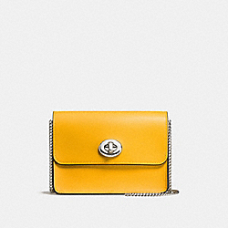 COACH F57714 - BOWERY CROSSBODY SILVER/YELLOW