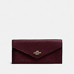 COACH F57715 - SOFT WALLET LI/OXBLOOD