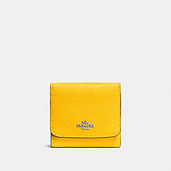 COACH F57725 Small Wallet SILVER/YELLOW