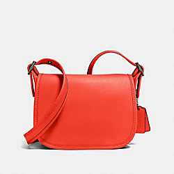 COACH SADDLE 18 - Deep Coral/Dark Gunmetal - F57731