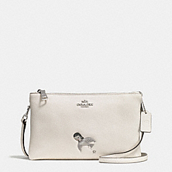 COACH F57734 - BASEMAN X COACH KIKI LYLA CROSSBODY IN PEBBLED LEATHER SILVER/CHALK