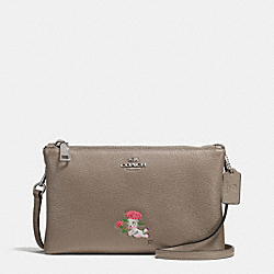 COACH F57735 - BASEMAN X COACH LOU LYLA CROSSBODY IN PEBBLE LEATHER SILVER/FOG