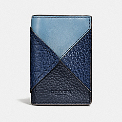 COACH F57747 Bifold Card Case BLUE MULTI